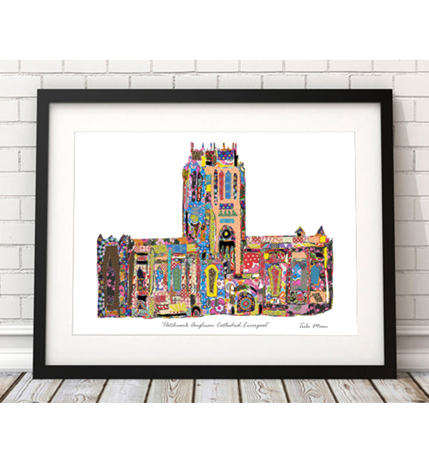 Patchwork Anglican Cathedral Print