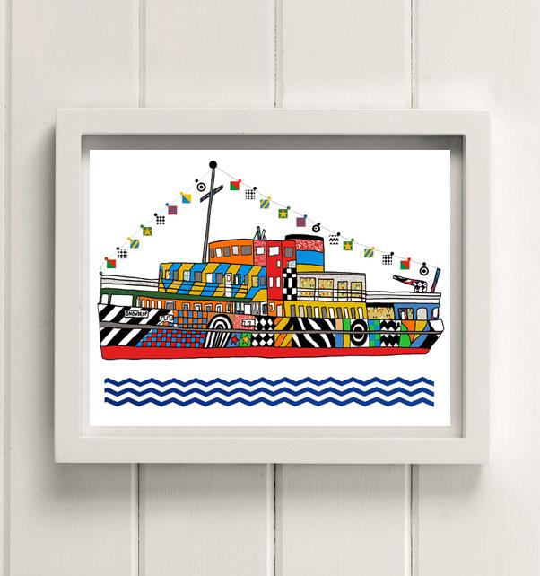Dazzle Ferry Print