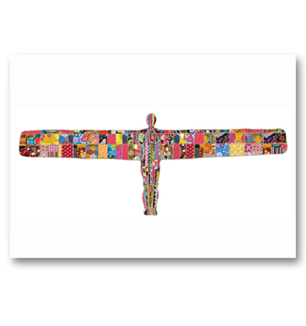 Patchwork Angel of the North Card