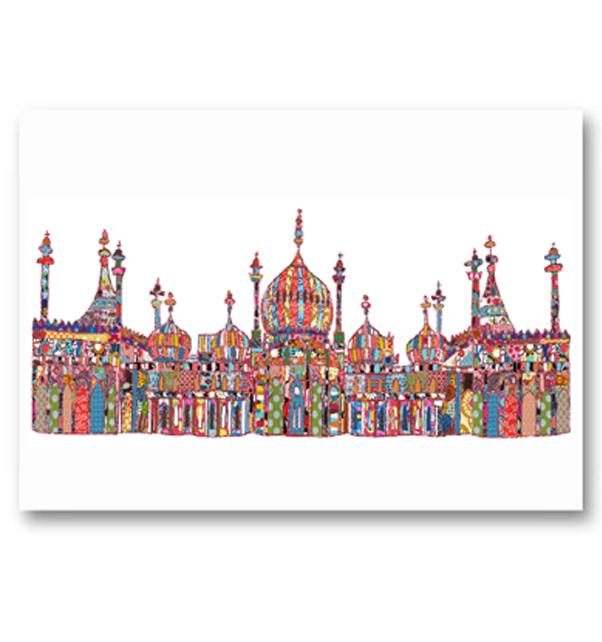 Patchwork Brighton Pavilion Card
