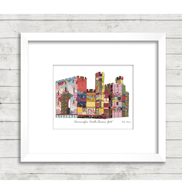 Patchwork Caernarfon Castle Queens Gate Print