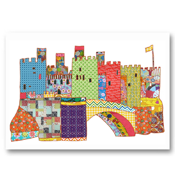 Patchwork Conwy Castle Card