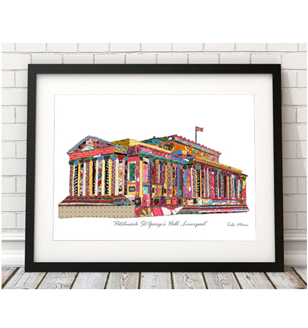 Patchwork St. Georges Hall Print