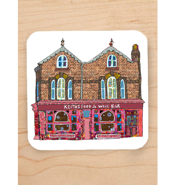 Keiths Wine Bar Lark Lane Coaster