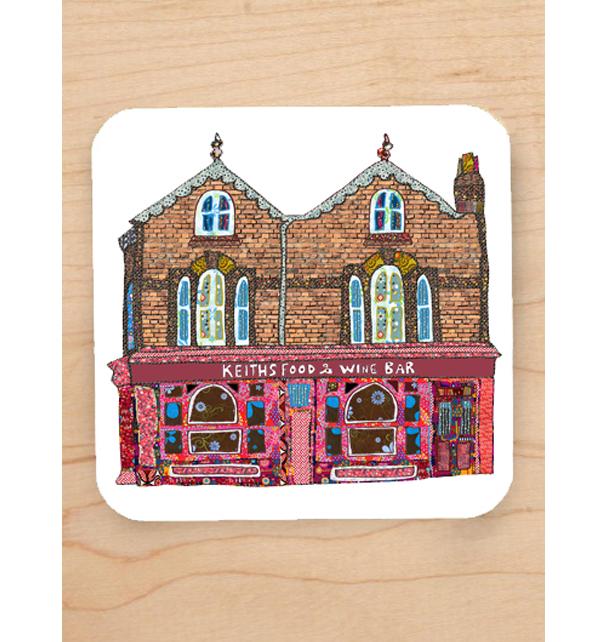 Keiths Wine Bar Lark Lane Coaster