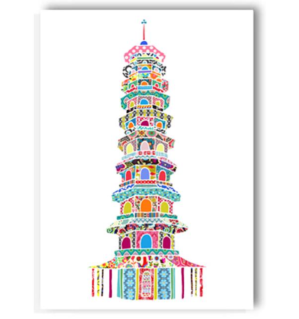 Kew Gardens Pagoda Card
