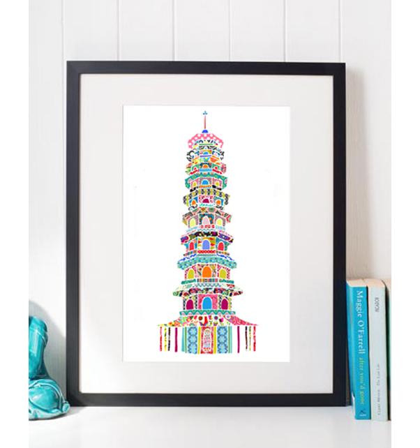 Kew Pagoda Print
