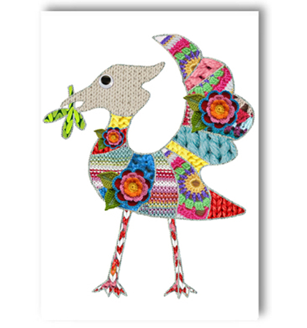 Knitted Liver Bird Card