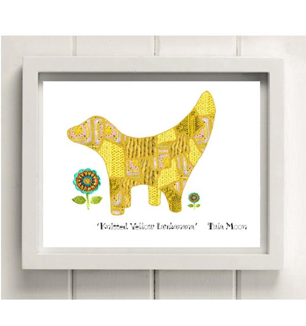 Knitted Yellow Lambanana Print
