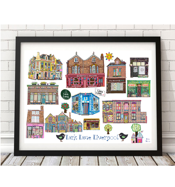 Lark Lane Liverpool Print