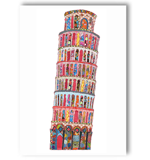 Leaning Tower of Pisa Italy Card
