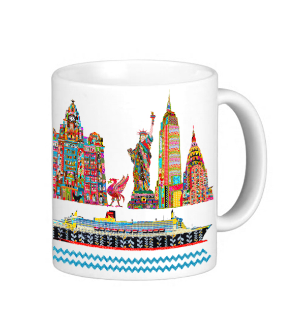 Liverpool to New York Mug
