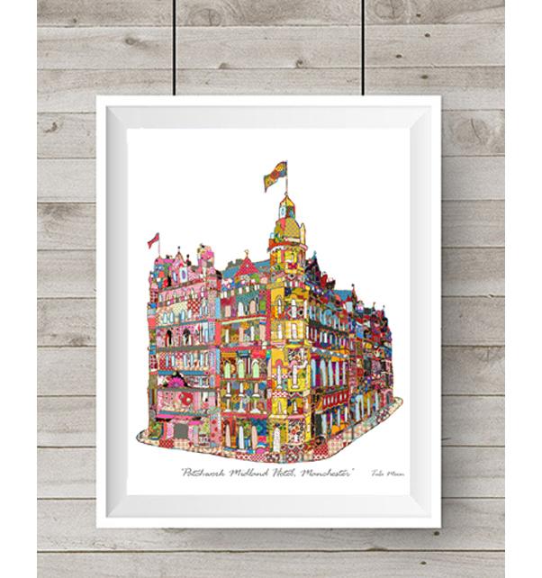 Patchwork Manchester Midland Hotel Print