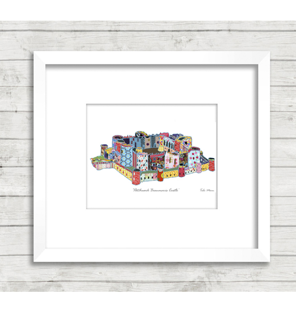 Patchwork Beaumaris Castle Print