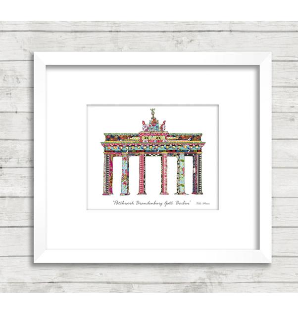 Patchwork Brandenburg Gate Print