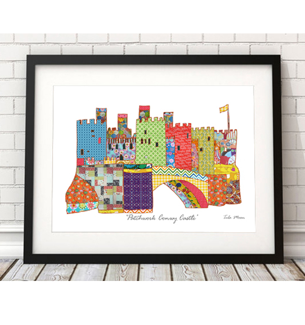 Patchwork Conwy Castle Print