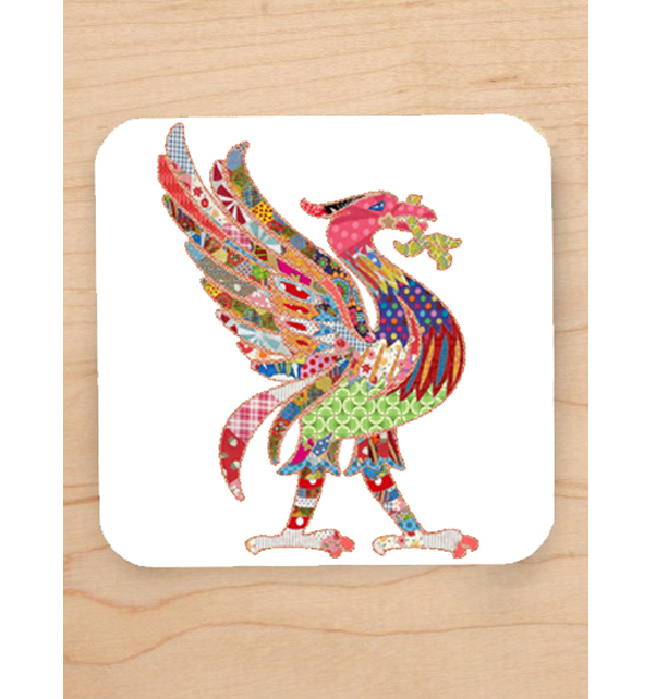 Patchwork Liver Bird Coaster