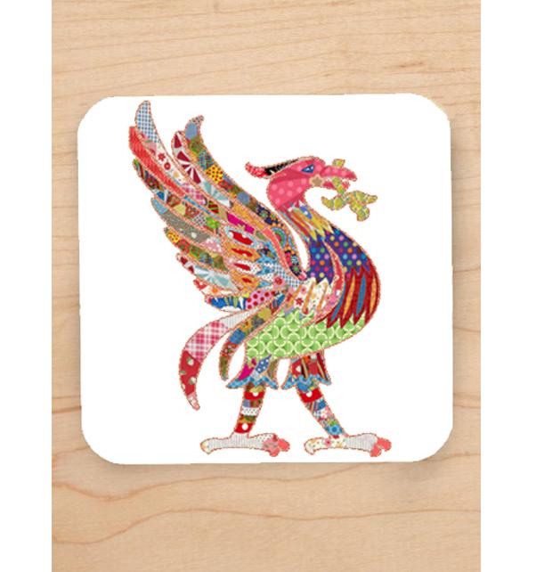 Patchwork Liver Bird Coaster