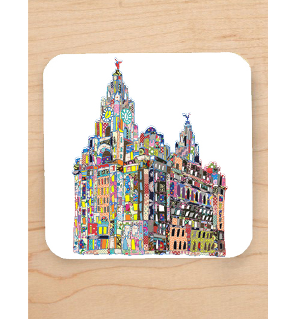 Patchwork Liver Building Coaster