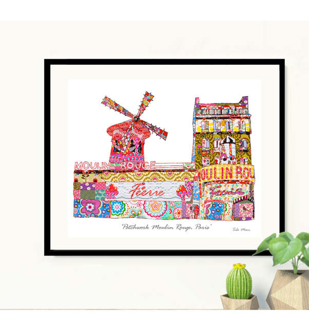 Patchwork Moulin Rouge Print
