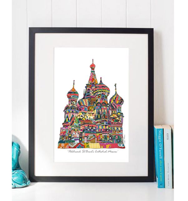 Patchwork St Basil's Cathedral Print