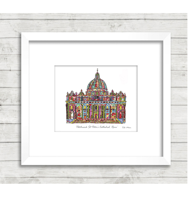 Patchwork St.Peter's Cathedral Rome Print