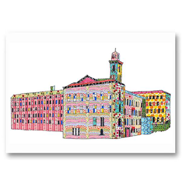 Patchwork Salt's Mill Saltaire Card