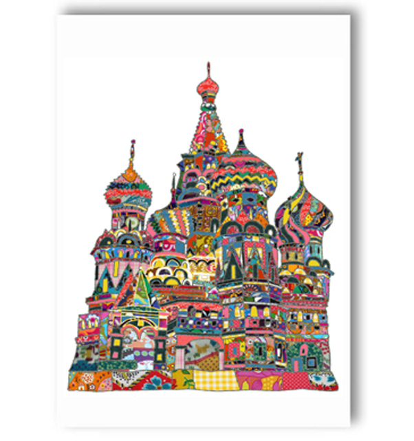 St Basils Cathedral Moscow Card