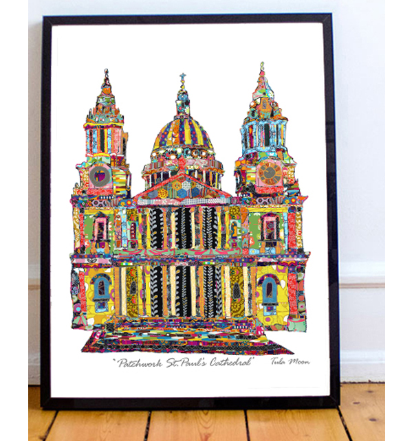 Patchwork St. Pauls Cathedral Print