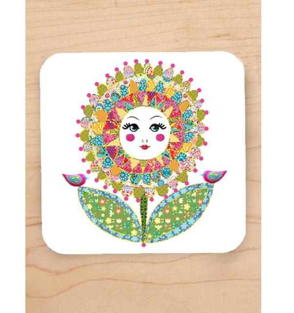 Sunflower-Girl-Coaster