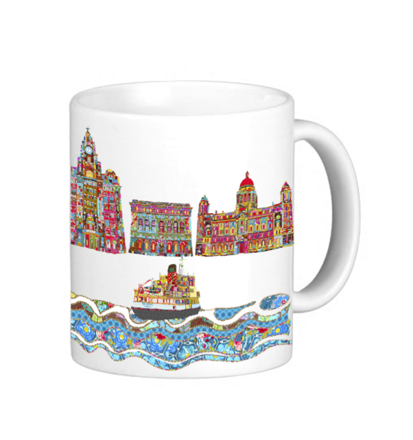Three Graces and Mersey Ferry Mug