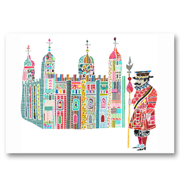 Tower of London and Beefeater Card