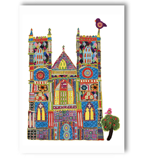 Westminster  Abbey Textile Card