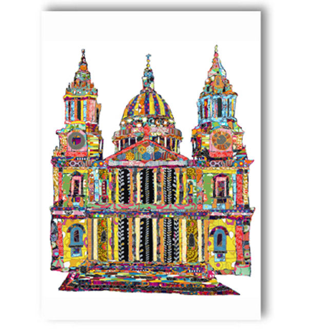 Patchwork St. Pauls Cathedral Card