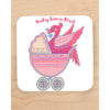 Baby Pink Liver Bird Coaster