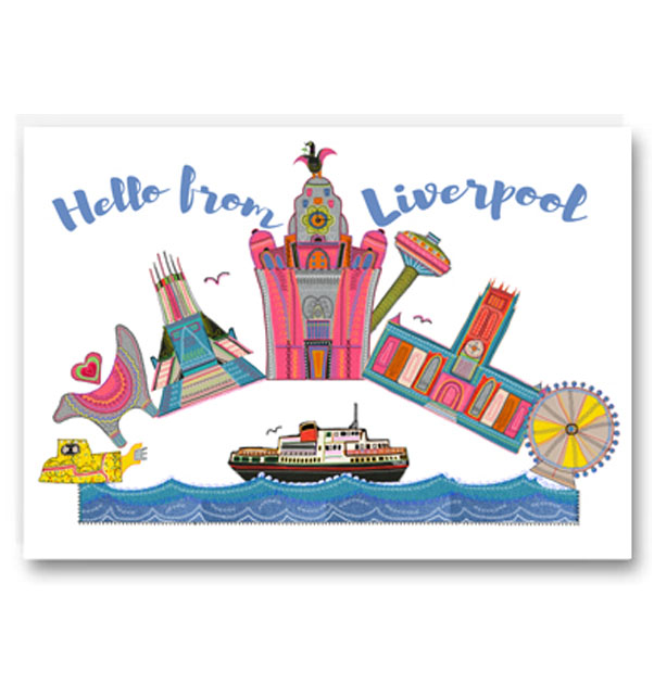 Hello from Liverpool Card