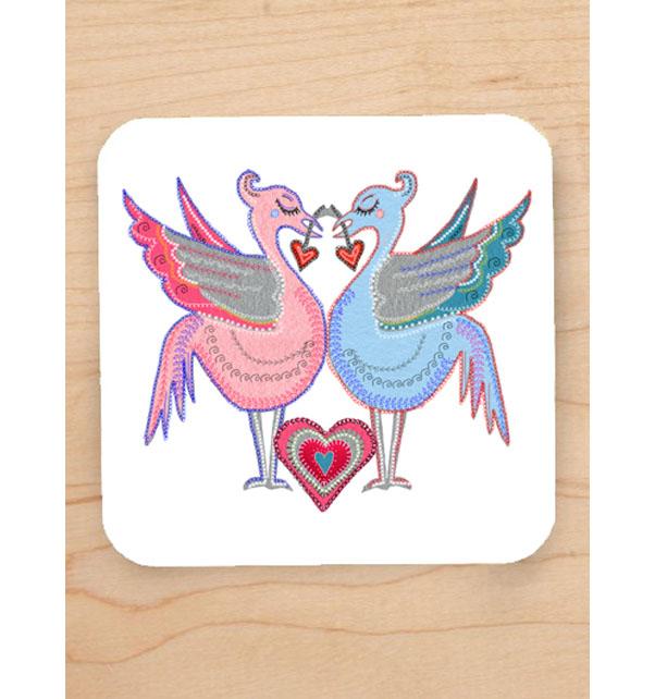 Liver Bird Love Coaster