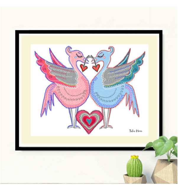 Liver Bird Love Print
