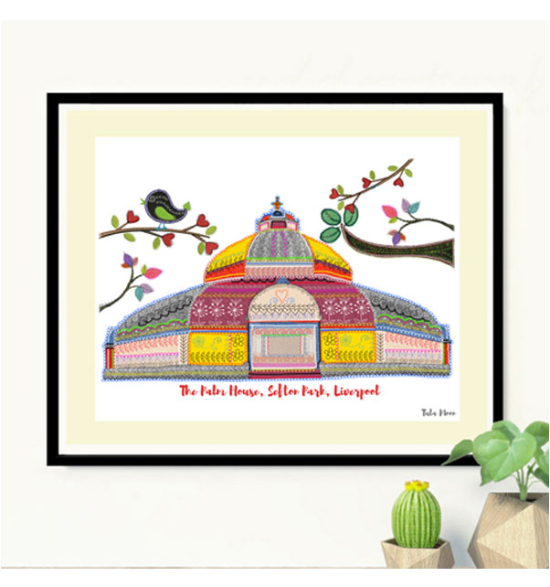 Palm House Sefton Park Print