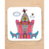 Pink Liver Building Blue Lambananas Coaster
