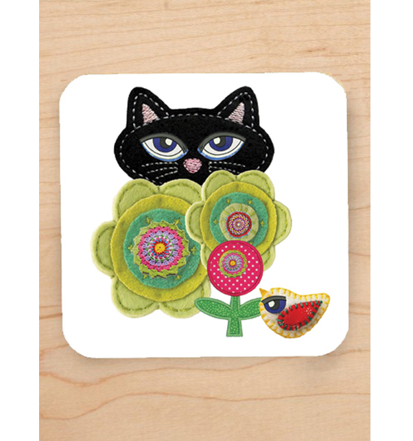Lucky-Black-Cat-Coaster