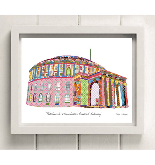 Patchwork Manchester Central Library Print