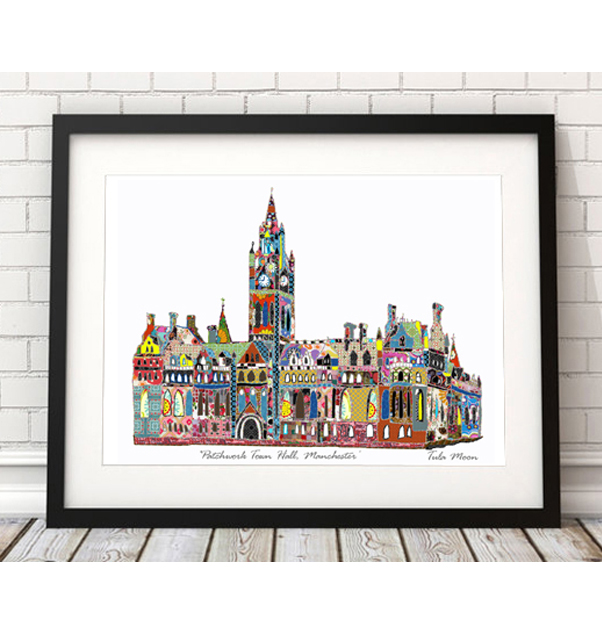 Patchwork Manchester Town Hall Print