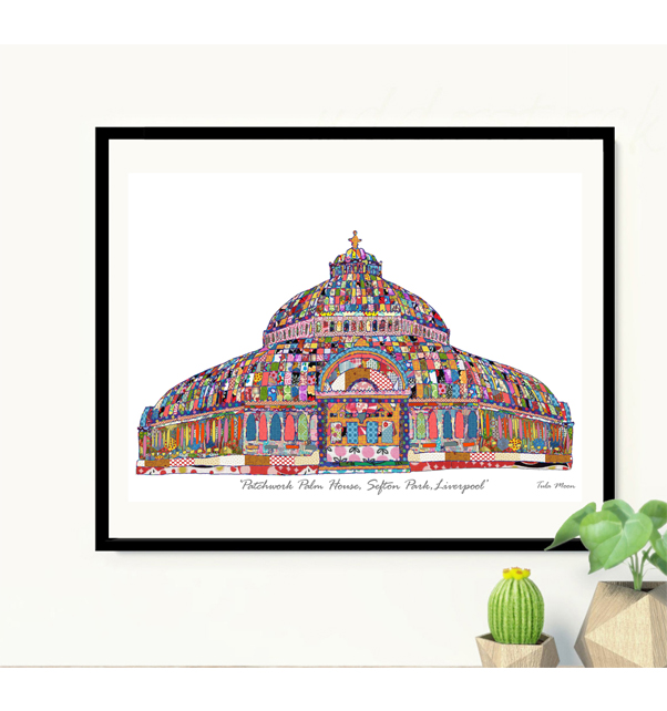Patchwork Palm House Print