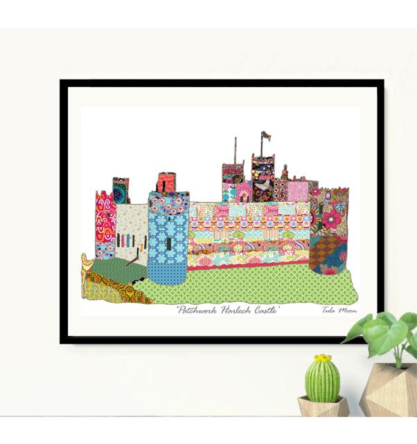 Patchwork Harlech Castle Print