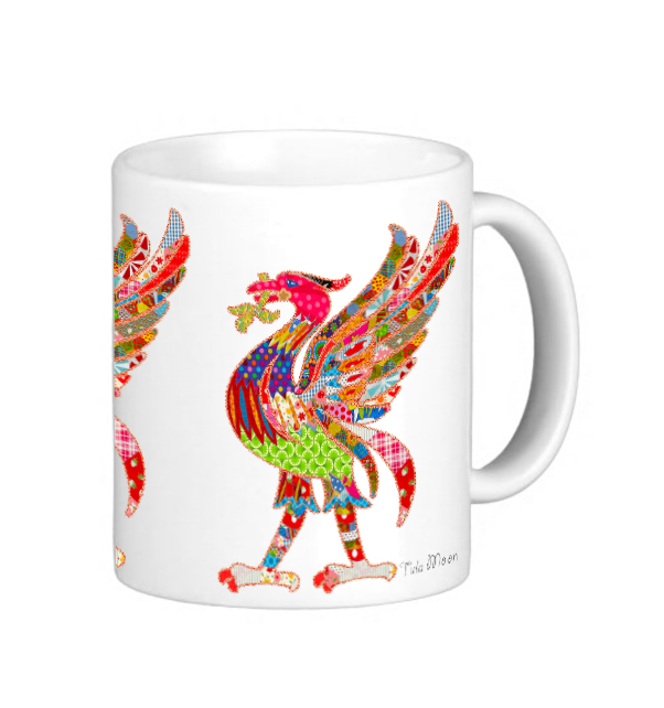 Patchwork Liver Bird Mug