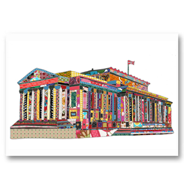 Patchwork St Georges Hall Card