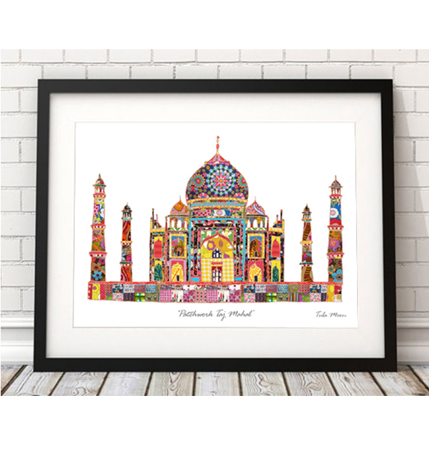Patchwork Taj Mahal Print