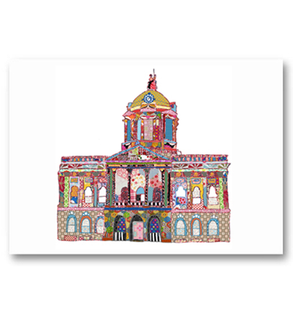 Patchwork Town Hall Liverpool Card