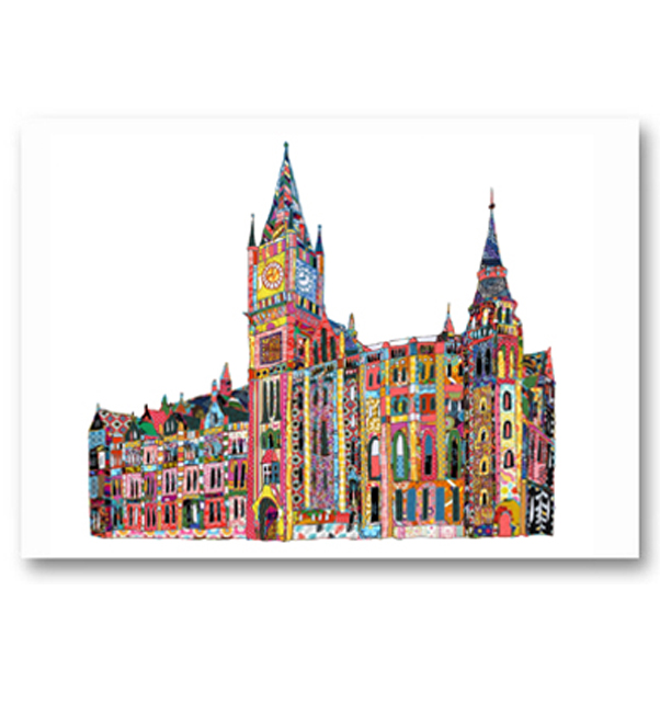 Patchwork Victoria Building, University of Liverpool Card